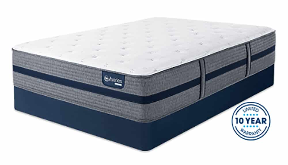 A mattress with its certifications.