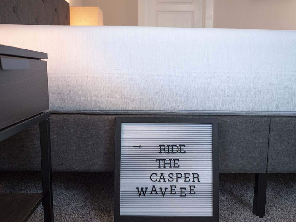 Side image of Casper Wave mattress