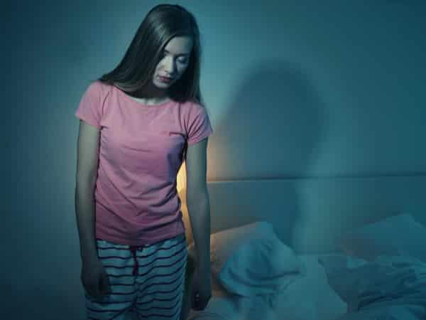 woman sleepwalking