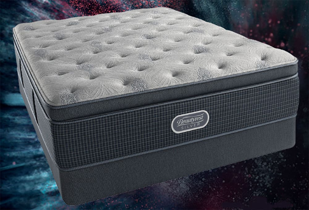 A mattress on a starlit background.