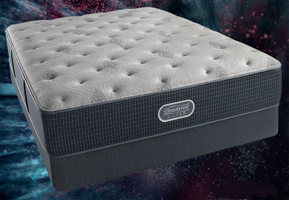 A mattress on a starry background.