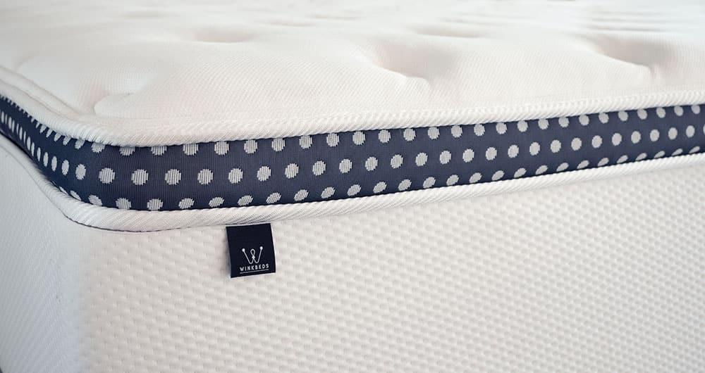 A closeup of a mattress.