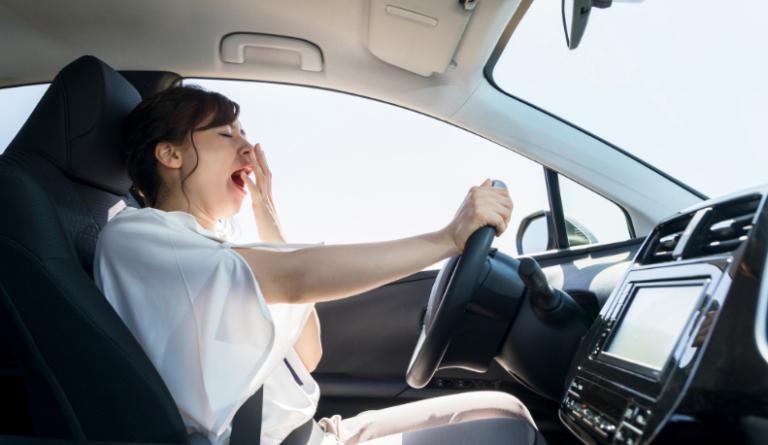 Woman drowsy driving