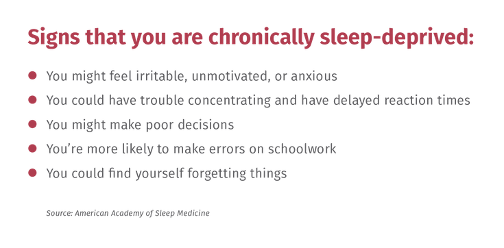 Bulleted List Of Sleep Deprivation Symptoms