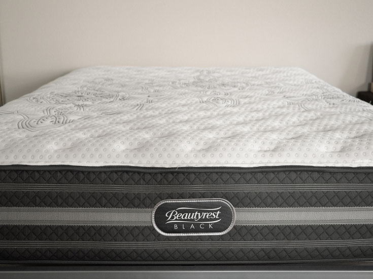 A close look at a firmer mattress.