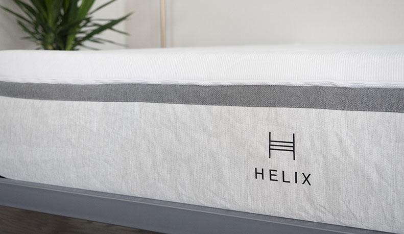 A mattress is shown in closeup.