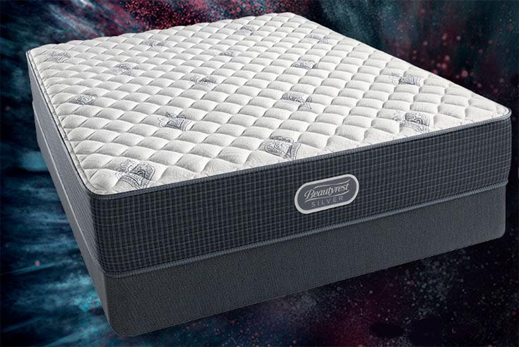 A mattress on a starry background.