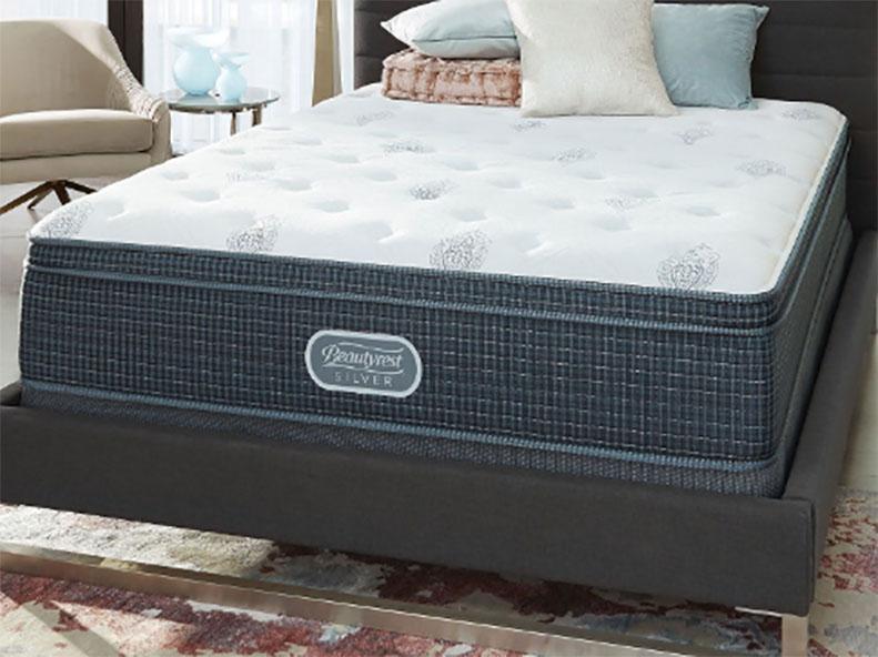 A mattress in a high-end room.