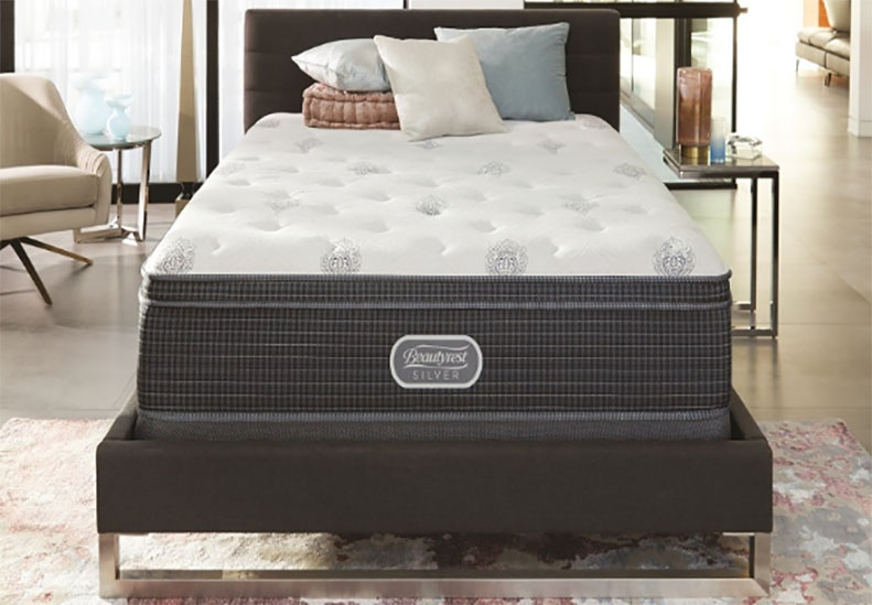 A high end mattress in a nice bedroom.