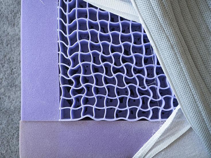 The inside of a mattress.