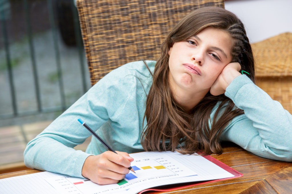 sleep deprived teen