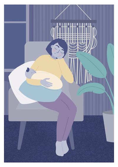 Postpartum sleep
