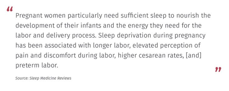 Pregnant women need sufficient sleep