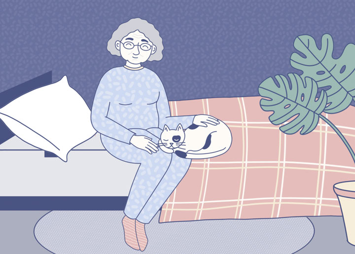 Elderly Woman Having Insomnia