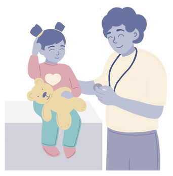Pediatrician Helps A Child