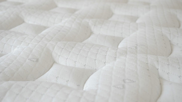 The cover of a hybrid mattress