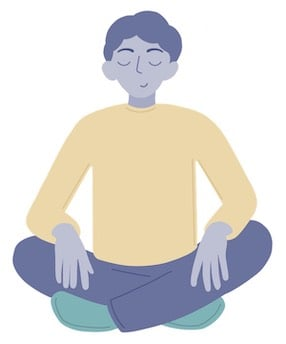 Man Meditating To Help With Anxiety