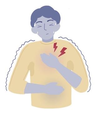 Man Having Panic Attack