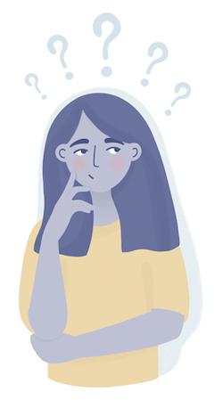 Woman Thinking About Mattress Disposal