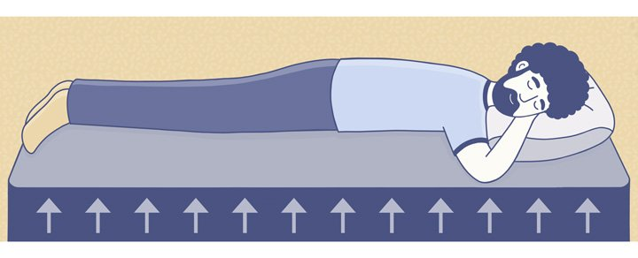 sleeping on a firm mattress