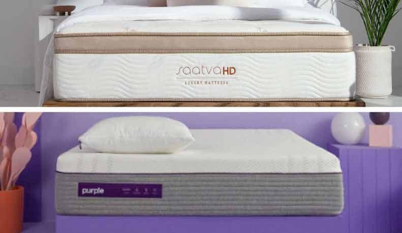 Saatva HD vs Purple 4