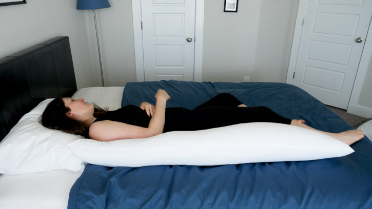 BioPEDIC Body Pillow Sleeping Positions