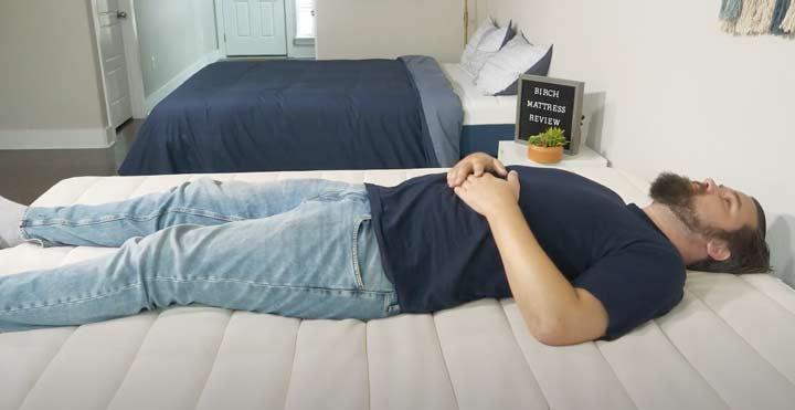 Birch Mattress - Back Sleeping