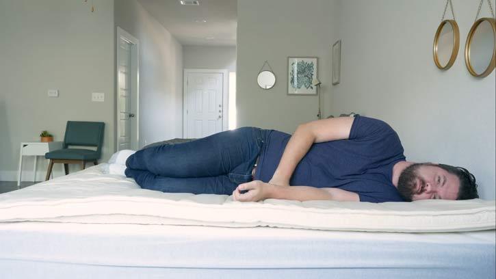 Side Sleeping On The Birch Plush Pillow Top