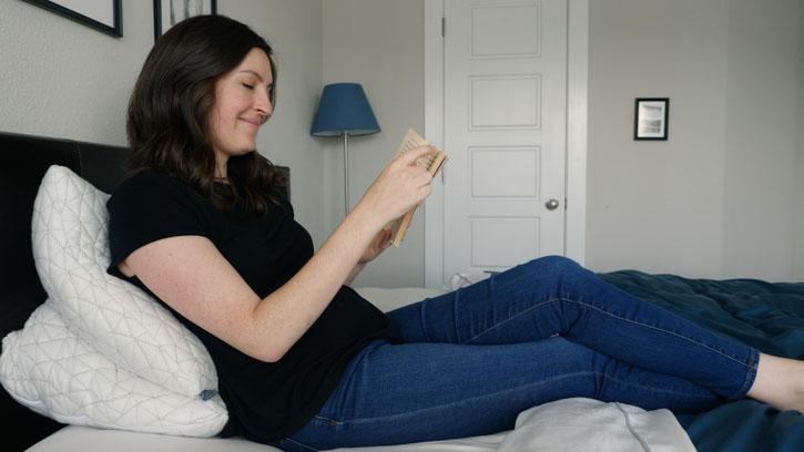 Coop Home Goods Body Pillow as Reading Pillow