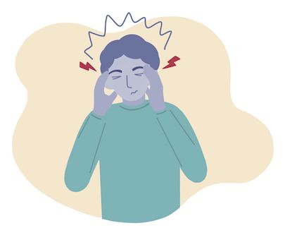 veteran man experiencing a headache