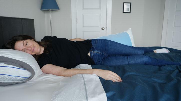 Mindful Design Body Pillow Sleeping Position