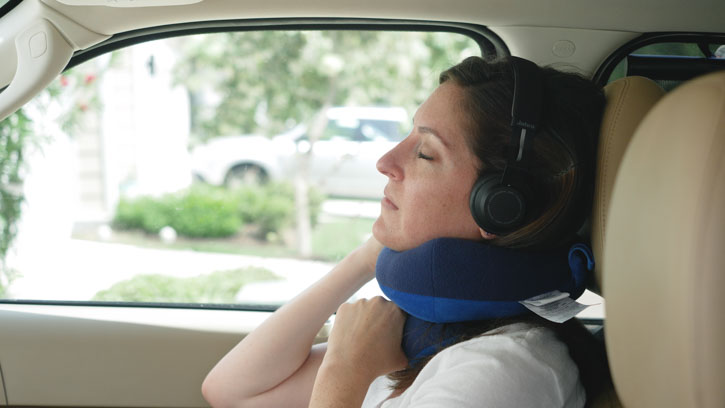 BCOZZY Travel Pillow Flat Back Feature