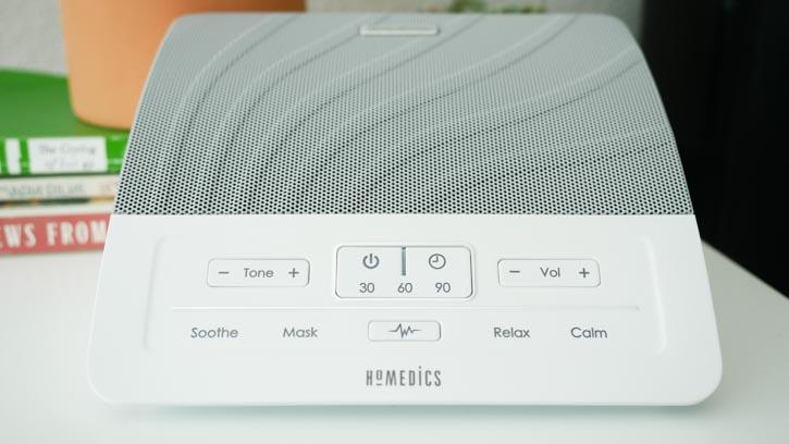 HoMedics Deep Sleep Sound Machine has four white noise options