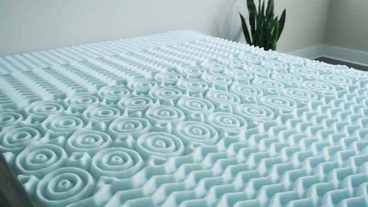 Lucid 5 Zone Mattress Topper On Bed