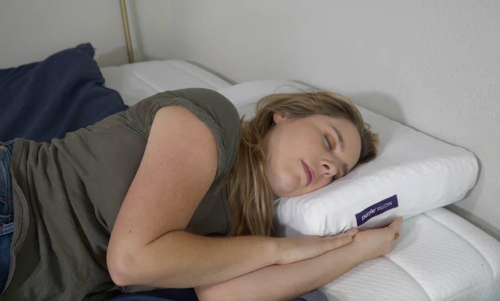 Purple Pillow - Side Sleeping