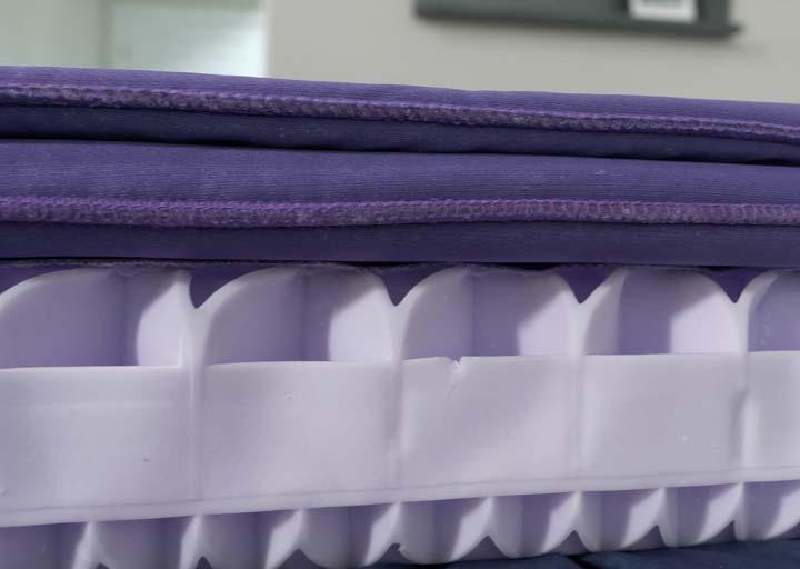 Purple pillow construction