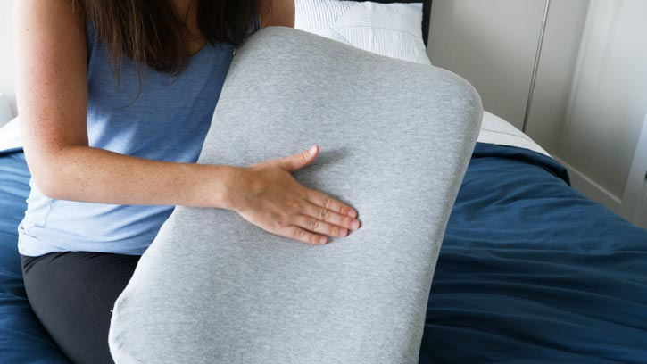Cushion Lab's contour pillow has a head basin for back sleepers