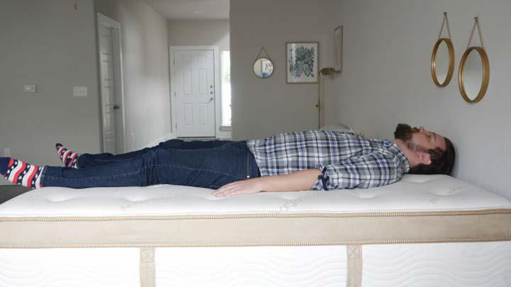 Back Sleeping On An Innerspring Mattress