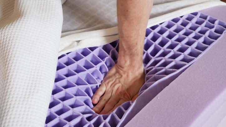 Purple Mattress Feel and Gel Grid Design