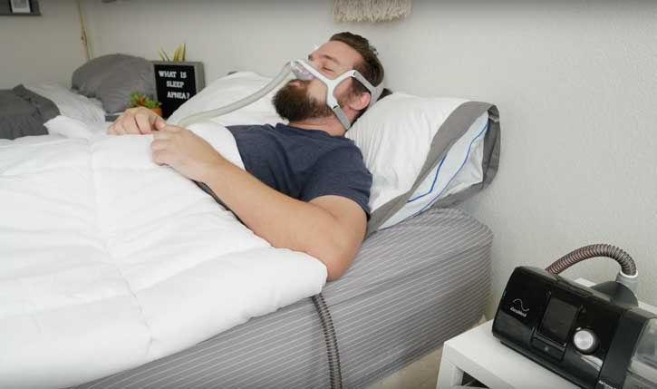 Sleeping With A CPAP