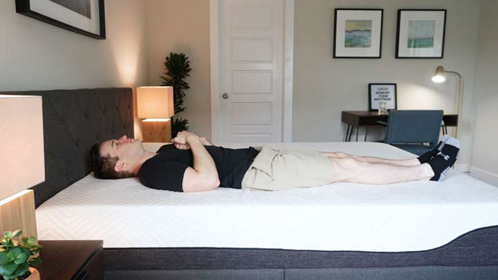 Lucid Mattress - Back Sleeping