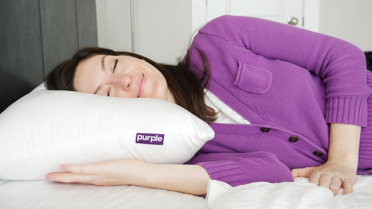 The Purple Plush is good for back and side sleepers