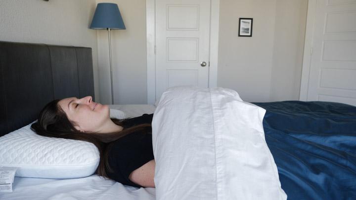 Gel Memory Foam Ghostpillow for back sleepers