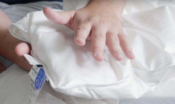 Comforter Baffle Box And Fluff