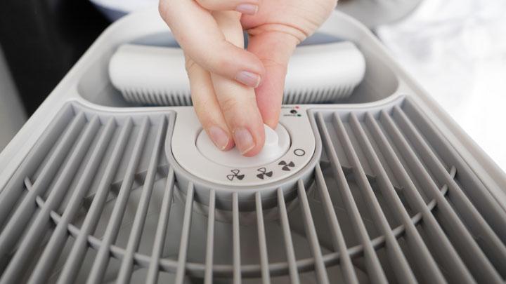 Honeywell Germ Free Cool Moisture Humidifier Review - three fan speeds