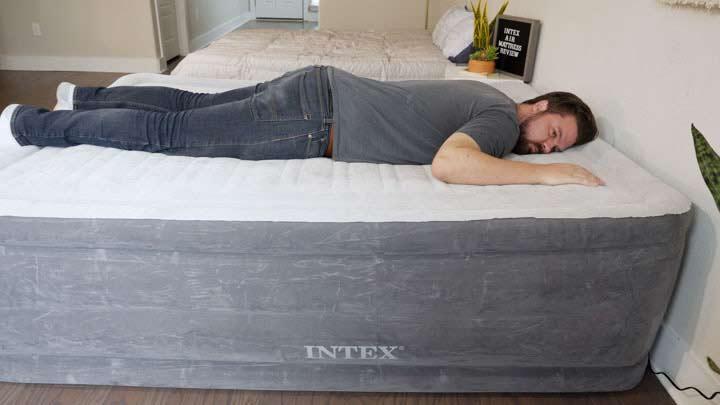 Intex Air Mattress - Stomach Sleeping