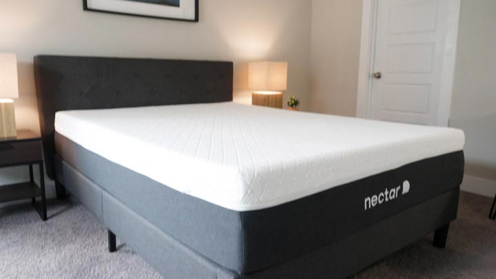 Nectar Lush Mattress On Bed Frame