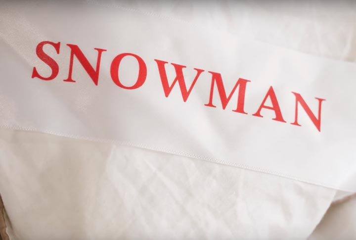 Snowman Down Comforter - Logo And Tag