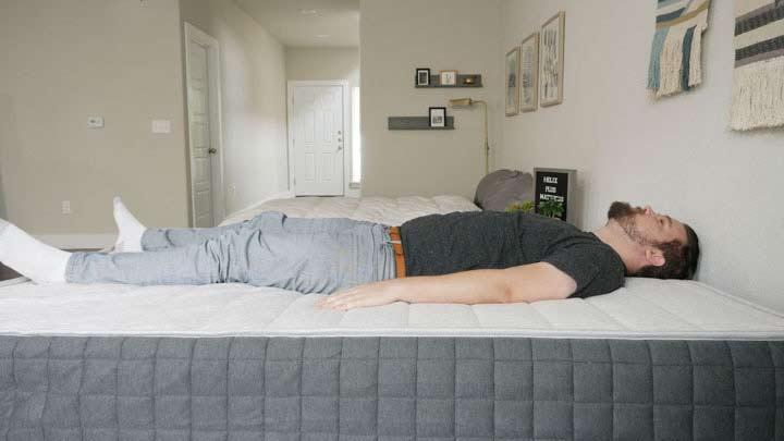 Helix PLUS Mattress - Back Sleeping