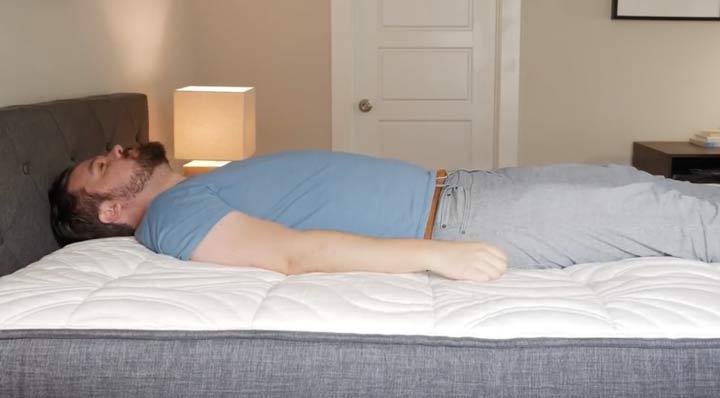 Brentwood Home Oceano Mattress - Back Sleeping